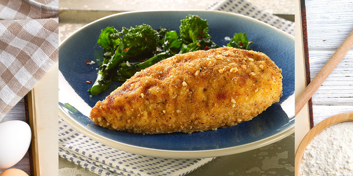 Parmesan and Almond Crusted Chicken Breasts