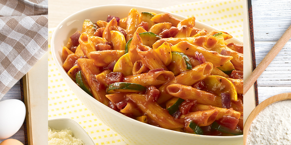 Penne Rigate with Summer Squash