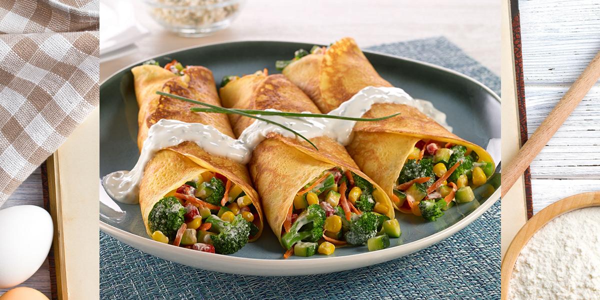 Vegetable Filled Crepes