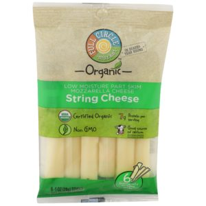 Mozzarella String Cheese – Organic