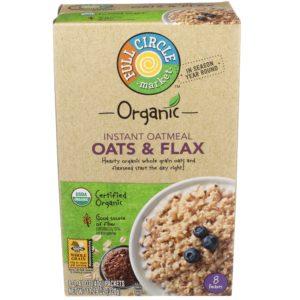 Oats & Flax Instant Oatmeal – Organic