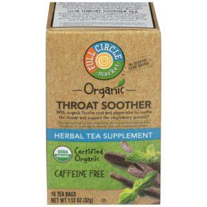 Throat Soother Herbal Tea Supplement – Organic