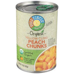 Yellow Cling Peach Chunks – Organic